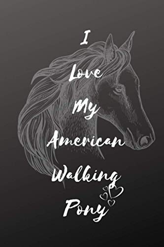 I Love My American Walking Pony Notebook: Composition Notebook 6x9' Blank Lined Journal