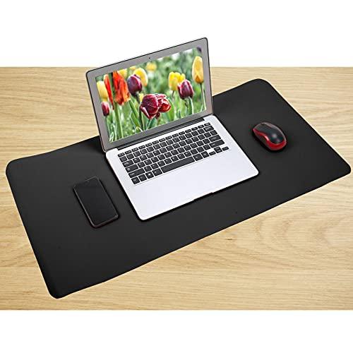 Protector secante para escritorio de cuero impermeable y a prueba de aceite Tapete de escritura para escritorio, Protector de escritorio Almohadilla de escritorio de oficina para(black)