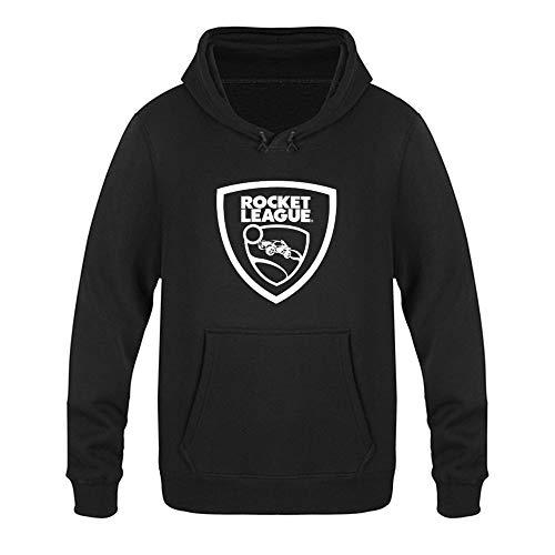 Hunting a Seagull R-ocket L-eague Unisex-Erwachsene Langarm Mit Taschen Pullover Kapuzenpullover Sweatshirt Gr. S, Black-Style1
