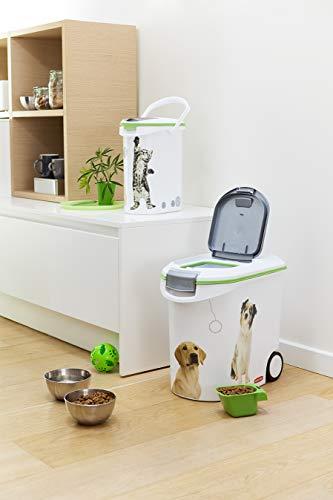 Curver 03905-P70-00 Pet-Futter-Container 12 kg, 49.3 x 27.8 x 42.5 cm, 35 L - 10