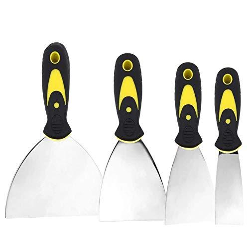Espátulas de Acero Inoxidable,espatulas para masilla,Espatula rascador multiusos,en 4 Formas 4/7.5/10 / 15 CM de Ancho