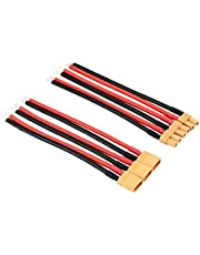 OliYin 3 pares de conectores XT30 macho XT-30 hembra con cable slicone de 16 AWG, 10 cm, para batería RC LiPo FPV (paquete de 3)