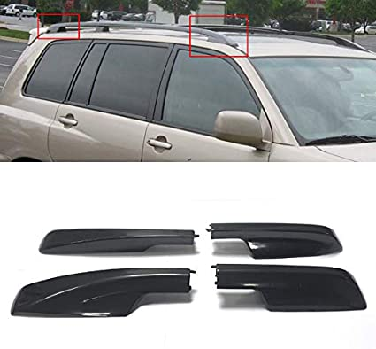 99Parts Set of 4Pcs Black Roof Rack Cover Rail End Shell Replacement Fit for Toyota 4Runner 2010-2018