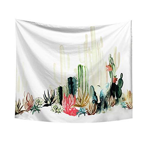 Tapestry Dasongff Tropical Kaktus Blumenmuster Wandteppiche Pflanze Tapisserie Tischdecke Tabelle Vorhang Wandtuch Wandbehang Wand Schlafzimmer Wohnzimmer Dekoratives
