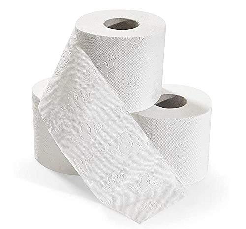 Xiangqian toiletpapierrol, 2 rollen van zijdepapier, 4-laags, zachte stof, delicate rollen, losse rollen, stof voor keuken, badkamer, toiletpapier, schoon en wasbaar
