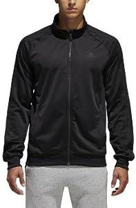 adidas Men's Essential 3 Stripe Tricot Track Jacket