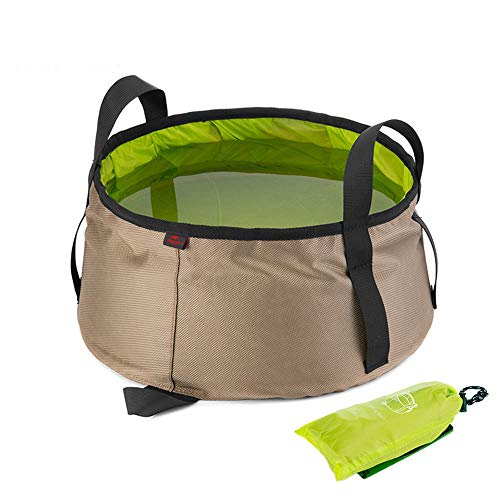 Yingm Cubo de Agua Plegable 10L portátil Duradero Pesca de Lavado de múltiples Funciones al Aire Libre de la Cuenca Plegable Cubo Comida campestre Que acampa Senderismo Viaje Portátil al Aire Libre