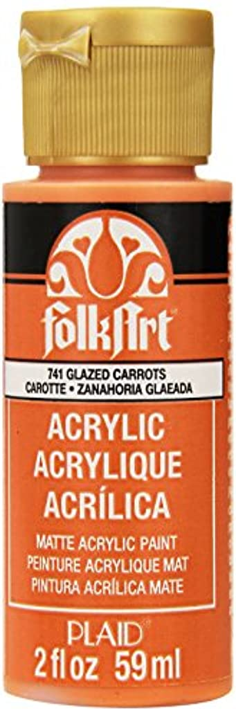 FolkArt Acrylic Paint in Assorted Colors (2 oz), 741, Glazed Carrots
