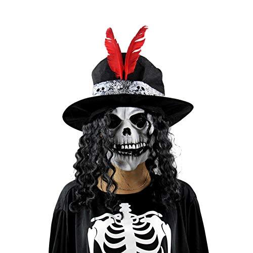 GYJWSBAW Halloween Siliconen Clown Enge Zombie Latex maskerade Masker Party Terror Devil Ghoul Predator Schedel Realistische Carnaval
