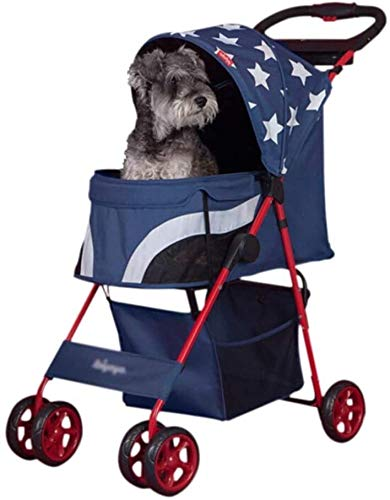 LAZNG Pet Bag Pet Stroller for Katzen/Hunde, Zipperless Eintrag, Weather Cover inklusive, Easy One-Hand Falten,...