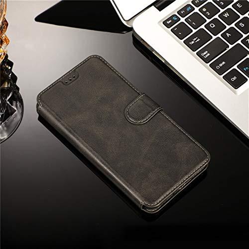 JiuRui-504 kuaijiexiaopu Fundas para Xiaomi Redmi 9 9A 9C, Funda de Cuero magnética de la Cartera de la Cartera de Lujo con Tapa de Soporte de Flip para Xiaomi Note 9S Pro MAX K30