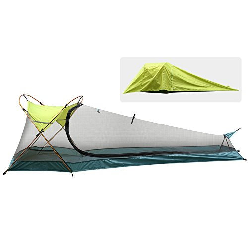 Rhino Valley Bivy Tent, Waterproof Portable Lightweight Bivy Sack 1 Person Outdoor Camping Tent Instant Cover Sleeping Bag, Sun Shelter for Camping, Hiking, Riding, Trekking, Mountaineering