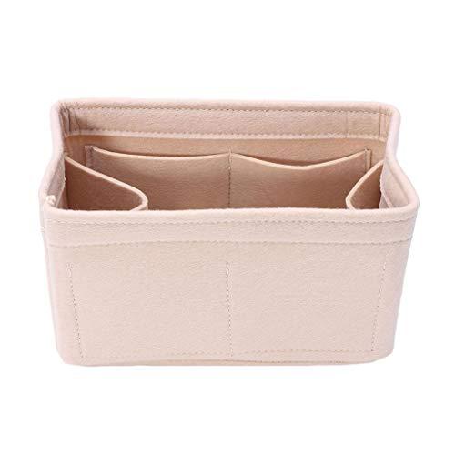 Irjdksd Filzeinsatz, Handtaschen-Organizer, Reise-Innenbeutel, tragbare Kosmetiktasche, Aufbewahrungstasche