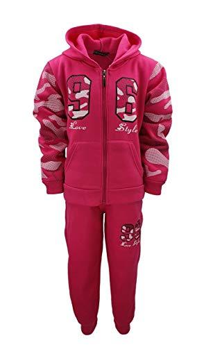 Sports Girl Mädchen Nicki Sweatanzug Freizeitset, Sweat-Jacke + Jogginghose in Pink, Gr. 92-98, MF549.2