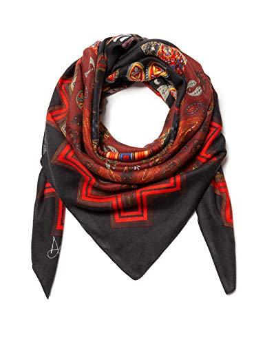 Desigual Damen FOULARD RETRO PAISLY Schal, Rot (Red Ocre 3069), One Size (Herstellergröße: U)