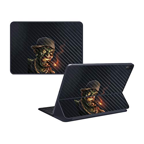 "MightySkins Carbon Fiber Skin for Apple iPad Pro Smart Keyboard 12.9"" - Hip Hop Zombie 