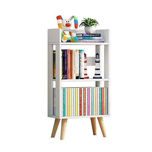 Dongyd Petite bibliothèque à Couches Multiples Simple étage, Armoire de Rangement en Bois Massif pour Enfants (Couleur : Blanc)
