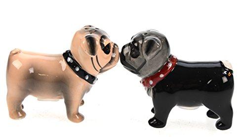 Unbekannt Salz- und Pfefferstreuer Mops Magnete küssend Pugs