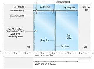 CRL Laguna Series Single Sliding Door Glass Mount Installation Assembly