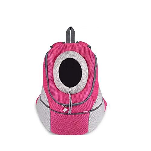 zyh Diseño Transpirable con Cabeza hacia Fuera y Hombro Acolchado de Malla Doble para Viajes al Aire Libre,Senderismo,Mochila para Gatos y Perros (1 artículo)