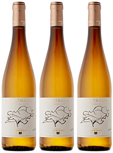 Familia Torres Waltraud, Vino Blanco - 3 botellas de 75 cl, Total: 2250 ml