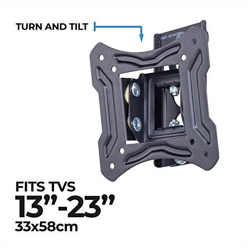 AmazonBasics Essentials schwenk- und neigbare TV-Wandhalterung für 33-58,4 cm (13-23 Zoll) TV-Geräte