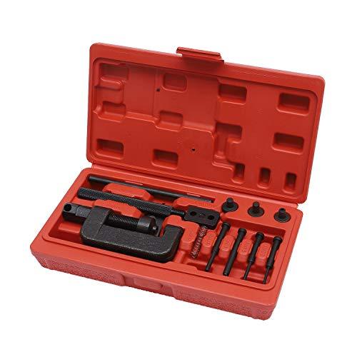 449856 Motorrad Ketten Splitter Breaker Kettenglied Setzhammer Reparatur Set Nieten Werkzeug