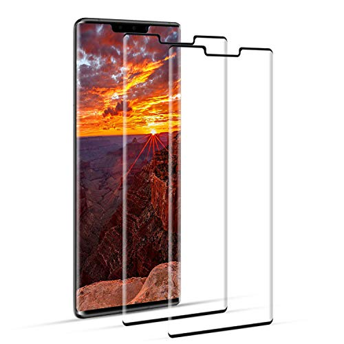 DOSNTO Vetro Temperato Huawei Mate 30 PRO Full Screen Pellicole Protettive Display [Caso Amichevole][da Bordo a Bordo][Senza Bolle][Anti-Graffio][Sensibile al Tatto][Ultra HD]