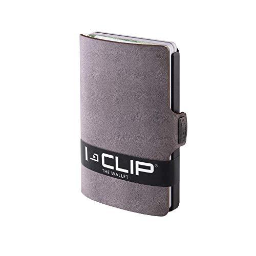 I-CLIP ® Portafoglio Soft-Touch Slate, Gunmetal-Black (Disponibile in 8 Versioni)