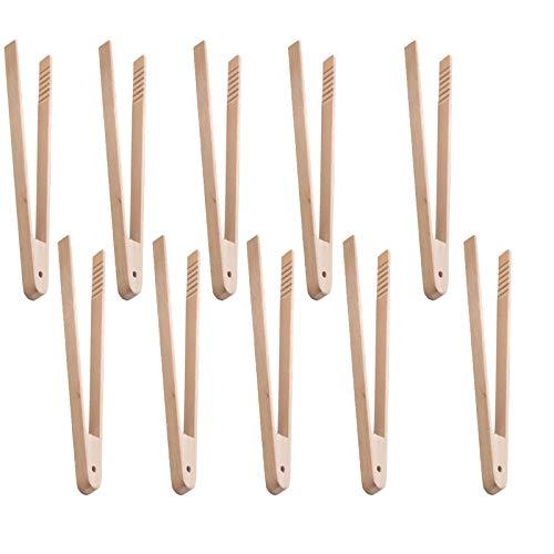 10 pinzas de madera para tostadora para cocinar pan tostado, pepinillos de té, cocina, pinzas de madera, 32 x 2 cm