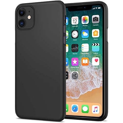 TheSmartGuard Hülle kompatibel für iPhone 11 Schutzhülle Silikon Case Schwarz Matt Black mit glänzender Vorderseite extra robust TPU Schutzhülle iPhone 11 (6,1 Zoll) *NEU**