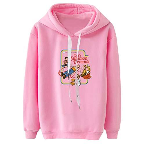 Bluza z kapturem damska bluza z długim rękawem styl koreański Streetwear bluza z kapturem sweter top bluzka sweter sweter M różowy