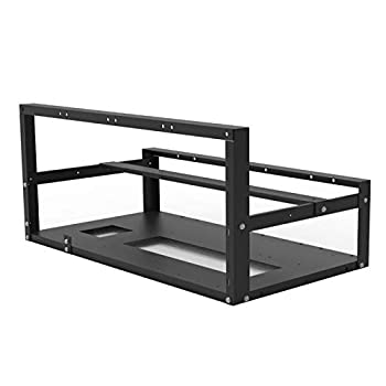 VELIHOME 6/8/12 GPU Frame,Stackable Open Mining Rig Frame Mining Rig Frame,Mining ETH/ETC/ZEC Ether Accessories Tools for 6/8/12 GPU Crypto Coin Bitcoin Rack Only