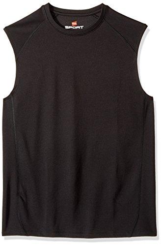 Hanes Men's Sport Performance Muscle Tee, Black, Large