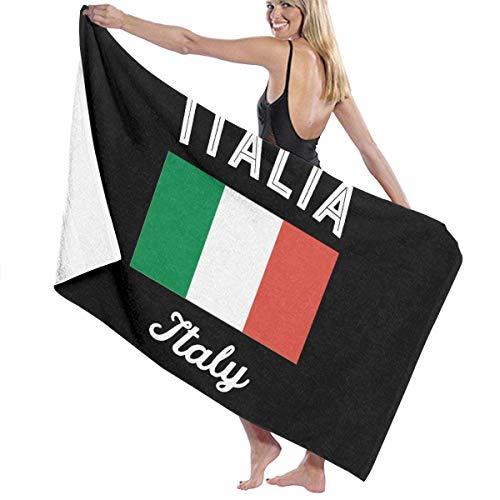 Toalla de baño Italiana Unisex de Italia Toalla de Viaje con Estampado de Microfibra Suave para Adultos Toalla de Viaje de 31x51 Pulgadas