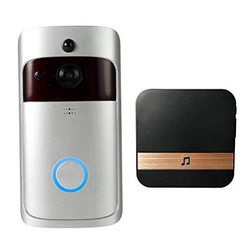 YSAYK 1080P Wireless WiFi Security DoorBell Videoportero con Timbre Enchufable Grabación Visual Control Remoto del Hogar Visión Nocturna