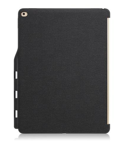 KHOMO Funda Trasera Gris y Negra para iPad Pro 12.9 2015 Compatible con Smart Cover y Teclado Solo Versión iPad Pro 1, Año 2015, Modelos A1584, A1652 - Gris Oscuro