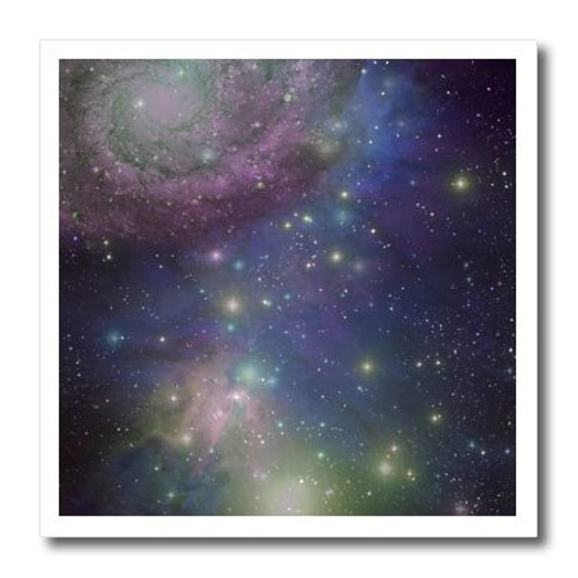 3dRose Stars Galaxies and nebulas-Navy Night Sky Blue and Purple Space Photography Collage-Astronomy-Iron On Heat Transfer, 6 by 6-inch, for White Material (ht_112990_2)