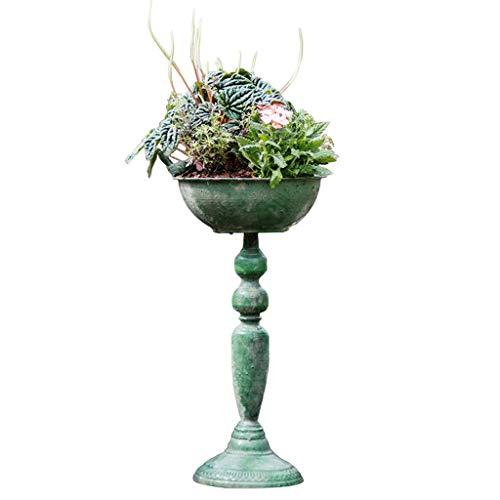 Unbekannt Gartenarbeit Blumentopf Eisen Hoch Blumentopf Vogelfutter Topf Vintage Blumen-Garten-Dekoration Verschiedene Waren Exquisit (Size : M)