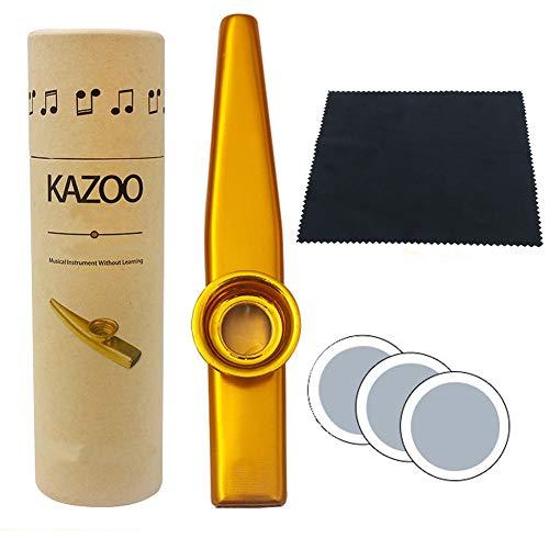 Kazoos, Acompañamiento HLHome – Mirlitones metálicos para guitarra ukulele Acompañamiento Orff instrumentos musicales Acompañamiento Musical instrumento