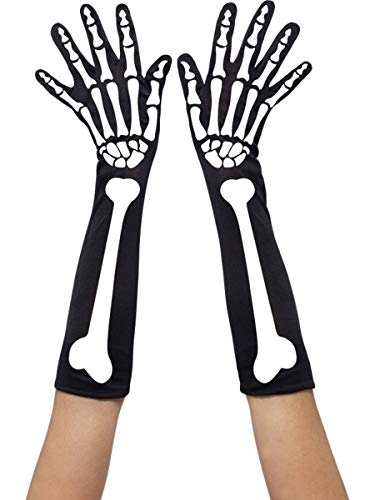 Smiffys Gants de squelette, longs