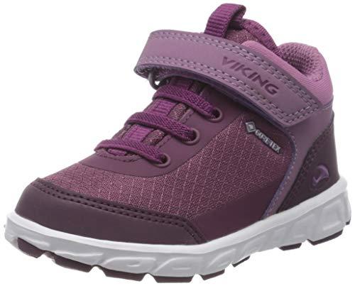 viking Unisex-Kinder Spectrum R Mid GTX Hohe Sneaker, Violett (Bordo/Violet 721), 33 EU