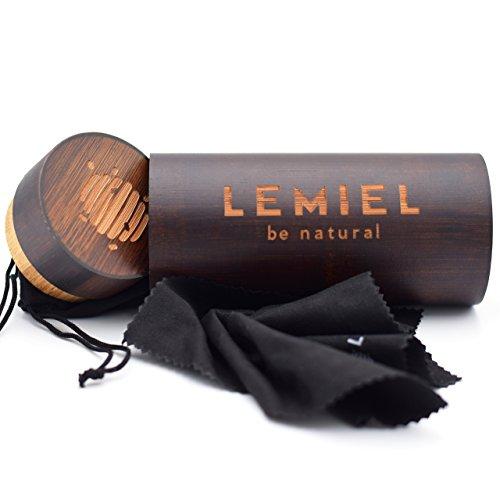 LEMIEL - DAS ÖKO-BRILLENETUI - Hartcase aus Bambus - Echtholz - Case - Aufbewahrungsbox - Naturprodukt - BUY ONE. PLANT ONE. (Dunkelbraun)