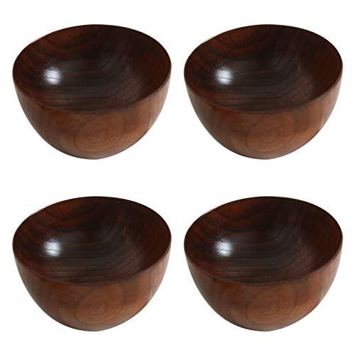 Jcevium Lot de 4 bols à soupe en bois - Créatifs et simples - Pour restaurants et hôtels