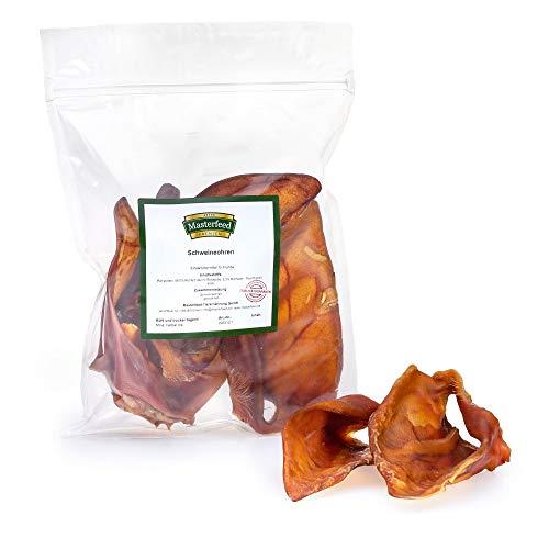 Masterfeed Schweineohren für Hunde - Getrocknet - 100% Natürlich Größe 1000 g