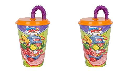 2740; Pack 2 Gläser mit Superzing Cane; Kunststoffprodukt; BPA frei; Fassungsvermögen 430 ml