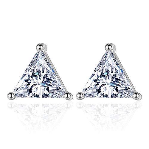 YDXC Pendientes De Cristal De Circonita para Mujer Triángulo De Estrella Geométrico Simple Moda Aplicar A La Boda De Cumpleaños del Día De San Valentín Etc.