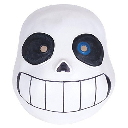 CoolChange Undertale Latex Totenschädel Maske Sans mit blauem Auge