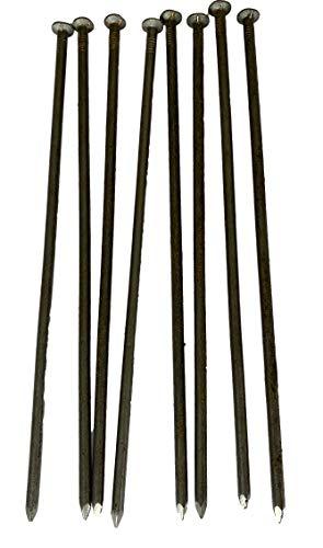 8Stk. Schnurnagel Gartennagel   350mm Länge – 8mm   Bodenanker Garten-Nagel für Gartenbau Absteckung BAU   Gerade Form – 17mm Kopf
