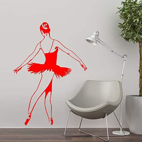 Nuevo diseño Ballet Dance etiqueta de la pared PVC decoración del hogar bailarina pared calcomanía niñas dormitorio decoración del hogar moderno ~ 1 58 * 82 cm